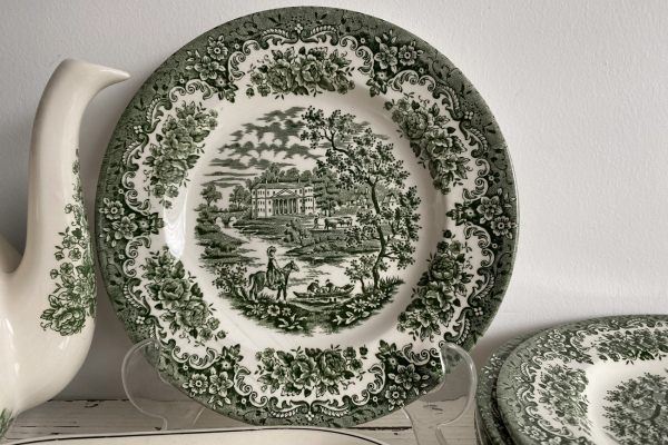 Bordjes van Ironstone, England, Groen Decor