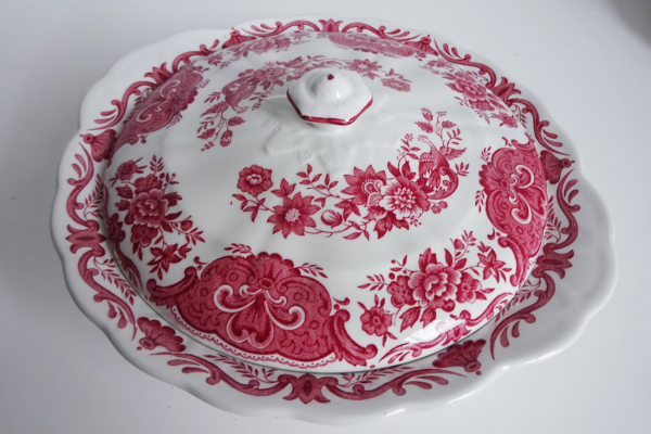 Fraaie Dekschaal Ridgway, Staffordshire, decor Windsor