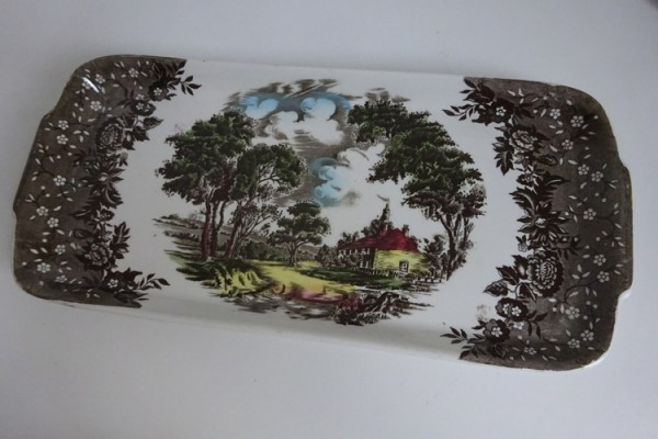 Staffordshire, Country Style, grote Cakeschaal